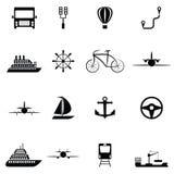 Transport icon set. The transport of icon set Stock Image
