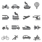 Transport icon set. /16 vector for design Stock Photos