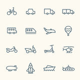 Transport icon set Royalty Free Stock Photo