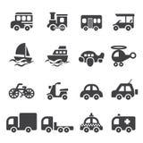 Transport icon set Stock Photography