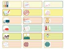 Transport Icon symbol sticker note color Stock Photo