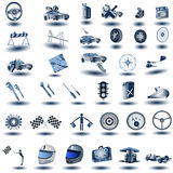 Transport icons. Huge collection of blue transport icons, vector illustration Royalty Free Stock Photography