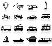 Transport icons. Set of 16 transport icons Royalty Free Stock Image