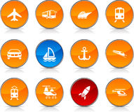 Transport  icons. Stock Images