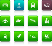Transport icons. Royalty Free Stock Photo