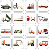 Transport icons Stock Photo