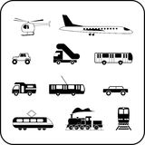 Transport icons Royalty Free Stock Images