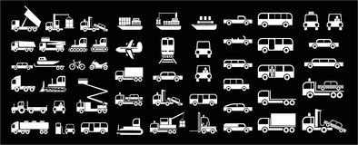 Transport -  icons Stock Photography