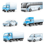 Transport icons. Set of 6 colorful transport icons Stock Image