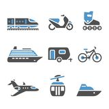 Transport Icons Stock Image