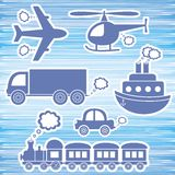 Transport icons Royalty Free Stock Image