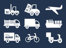 Transport icons Royalty Free Stock Photo