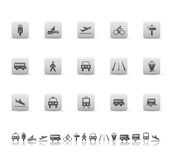Transport icons stock illustration