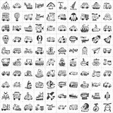100 Transport icons Stock Images