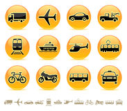 Transport icons / buttons 3 vector illustration