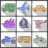Transport Icons Collection. Vector illustration. Royalty Free Stock Photography