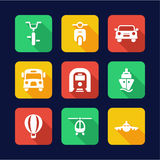 Transport Icons Flat Design. This image is a  illustration and can be scaled to any size without loss of resolution Stock Photo