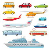 Transport Icons Flat Stock Image