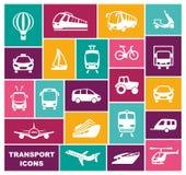 Transport icons in flat style. Vector illustration stock illustration