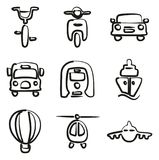 Transport Icons Freehand. This image is a vector illustration and can be scaled to any size without loss of resolution Stock Images