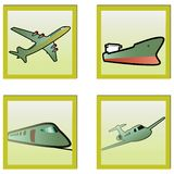 Transport icons set. Royalty Free Stock Images