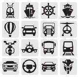 Transport icons set royalty free illustration