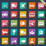 Transport icons. Set of 25 transport icons Royalty Free Stock Photography