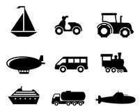 Transport icons set Stock Photos