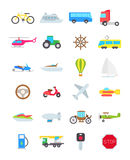 Transport  icons set. Set of 24 transport  icons Stock Image