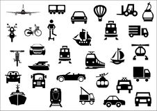 Transport icons. Set of 30 transport icons Stock Photos