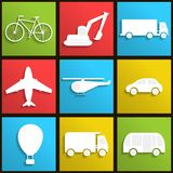 Transport icons set Stock Photo