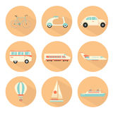 Transport icons set Royalty Free Stock Photos