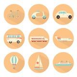 Transport icons set. Hand drawn transport icons set Royalty Free Stock Photos