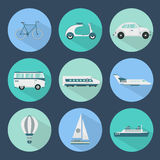 Transport icons set Stock Photography