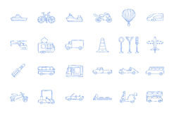Transport icons Stock Photos