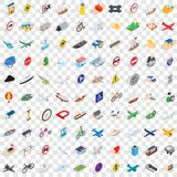 100 transport icons set, isometric 3d style. 100 transport icons set in isometric 3d style for any design vector illustration Stock Image
