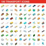 100 transport icons set, isometric 3d style. 100 transport icons set in isometric 3d style for any design illustration vector illustration