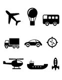 Transport icons set Royalty Free Stock Photo