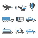 Transport Icons - A set of second Royalty Free Stock Images