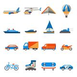 Transport icons set Stock Images