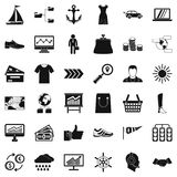 Transport icons set, simple style Stock Image