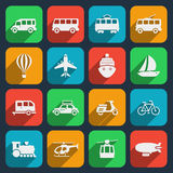 Transport icons set Royalty Free Stock Images