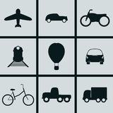 Transport Icons. Set of Icons on a theme Transport Stock Photos