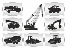 Transport icons. With special equipment Stock Photos