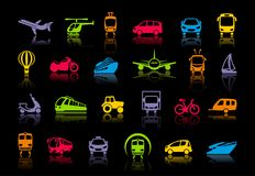 Transport icons. Vector illustration Royalty Free Stock Photo