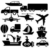 Transport icons Royalty Free Stock Photos