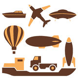 Transport icons, vector. Stock Photo
