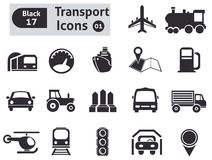 Transport icons Royalty Free Stock Photography
