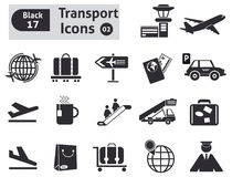 Transport icons Stock Photos