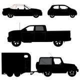 Transport ikon kolekcja - wektorowy silhouett Zdjęcia Stock
